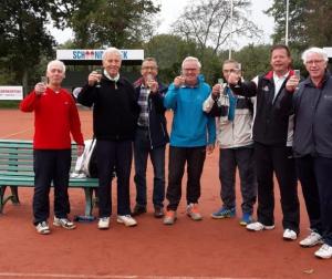 Heren dubbel 50+ team van Hennie van de Klundert